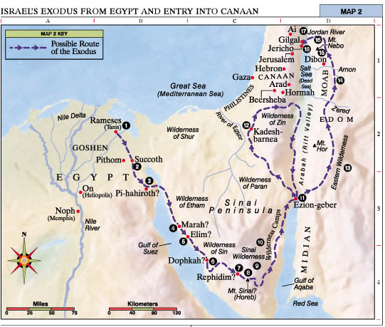israels-exodus-from-egypt-and-entry-into-canaan